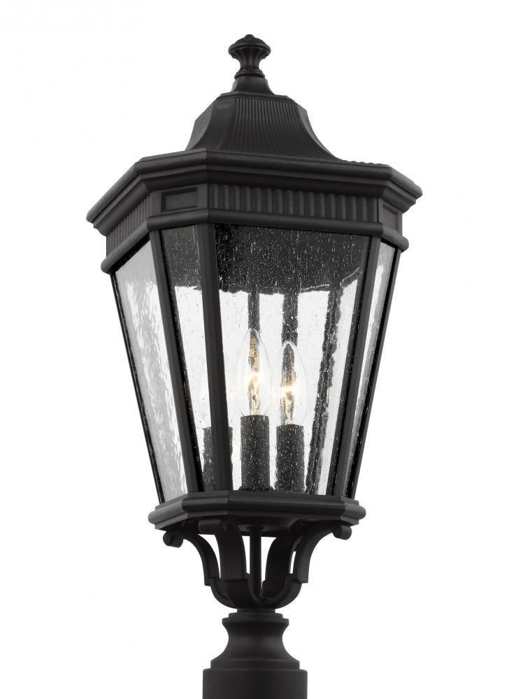Feiss Ol5427bk Cotswold Lane 3 Light Post Lantern In Black