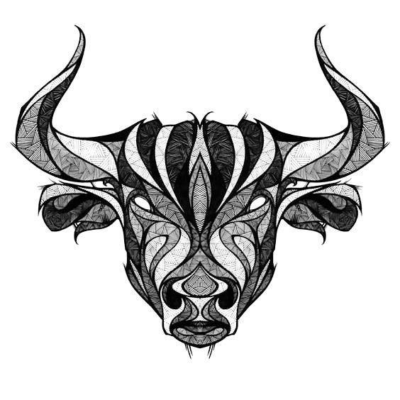taurus the bull head tattoo design taurus bull taurus and drawings rh pinterest com bull head tattoo tumblr bull head tattoo ideas