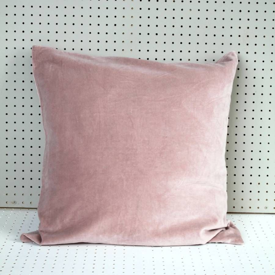 Blush Pink Velvet Cushion Cover By Posh Totty Designs Interiors Velvet Cushions Pink Velvet Cushion Cover