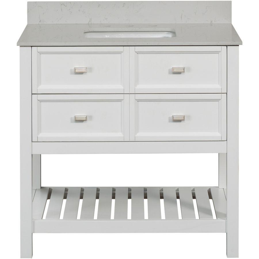 white single sink bathroom vanities. SCOTT LIVING Canterbury White (Common: 36-in X 22-in) Single Sink Bathroom Vanities H