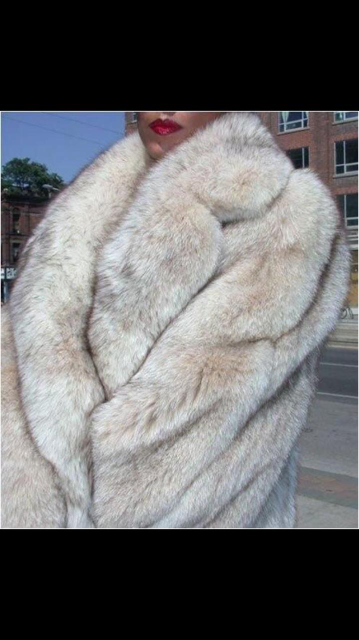 Purpleshoshana In Blue Fox White Fur Coat Fur Coats Women Mens Fur Coat