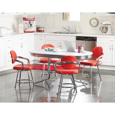 Red And White Deluxe Retro Dining Set U2014 For A New Look, Go Old School