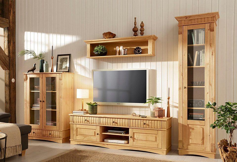Wohnzimmer klein ~ Home affaire 3 teilige wohnwand «teresa» bestehend aus 1 vitrine