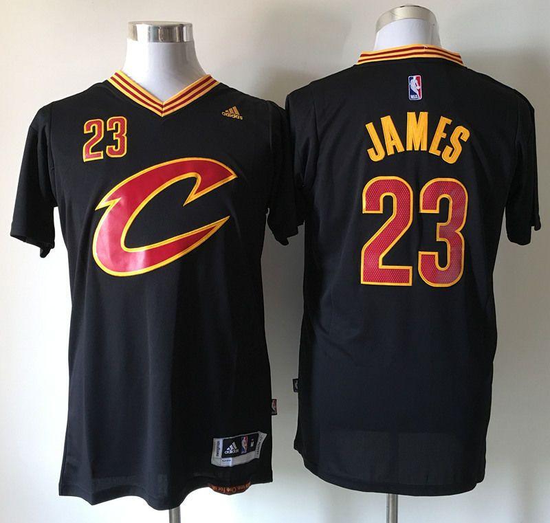8c4263faddd8 NBA Lebron James  23 Cleveland Cavaliers Swingman Adidas New Jersey  Black Gold