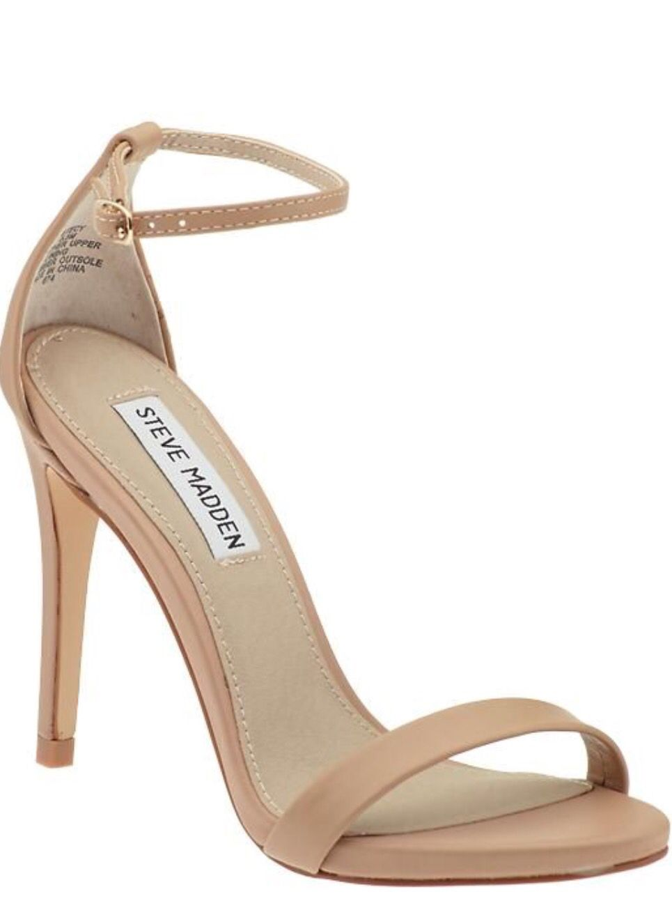 Minimal nude heel for springtime formal events Nude Strappy Heels