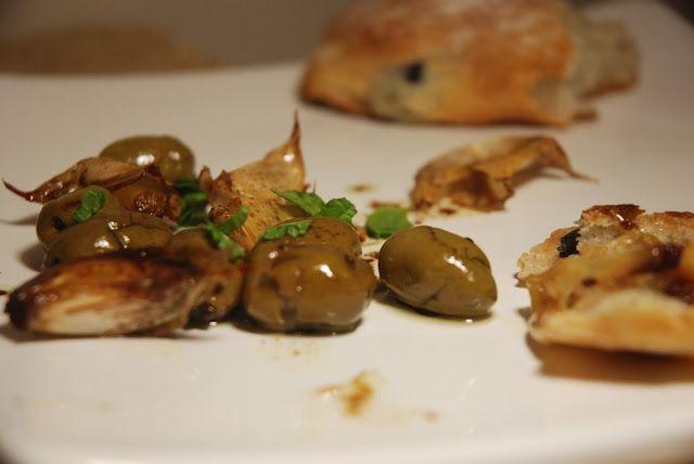 Marsala Roasted Olives and Garlic
