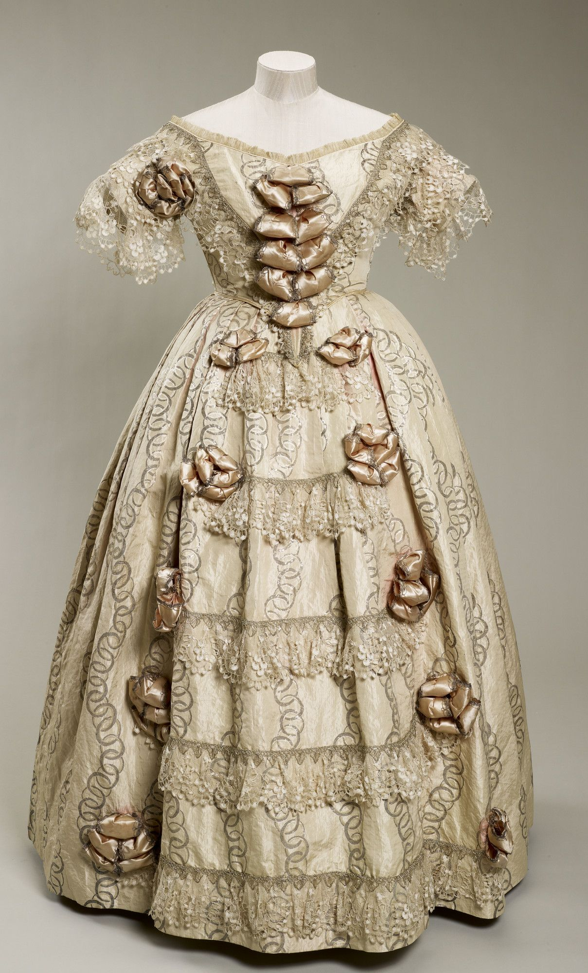 Queen Victoria's Dress 1851 Silk and lace