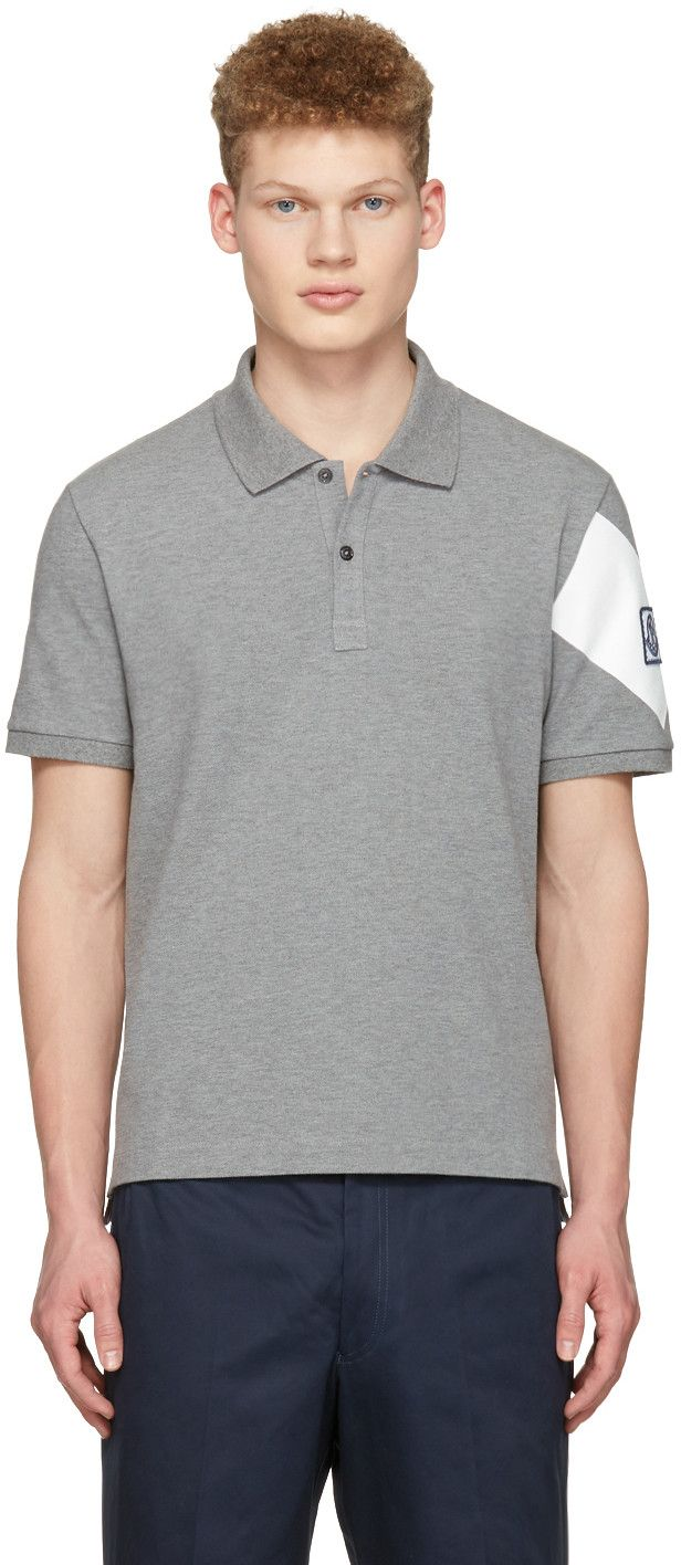 Moncler Gamme Bleu - Grey Arm Patch Polo