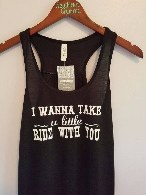 787f07743eff2 I Wanna Take a Little Ride with You Bella Flowy Tank Top. Jason Aldean Tank  Top. Country Tank top