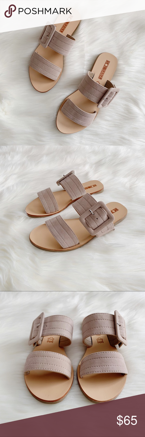 7907f4386f8fdf Sol Sana Finn Slide Suede Sandals NIB Classic and chic slide sandals from Sol  Sana.