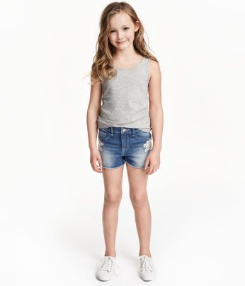 090bfd55 Kids   Girls Size 8-14y+   Shorts   H&M US   BLUE JEAN BABE~   Lace ...