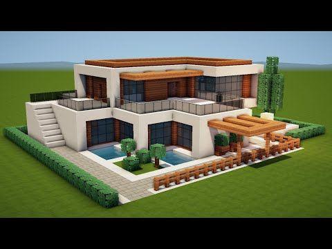 MODERNES HAUS in MINECRAFT bauen TUTORIAL [HAUS 206]