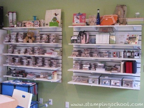 Another Slatwall Area To Hold My Stamps I Bought The White Slat