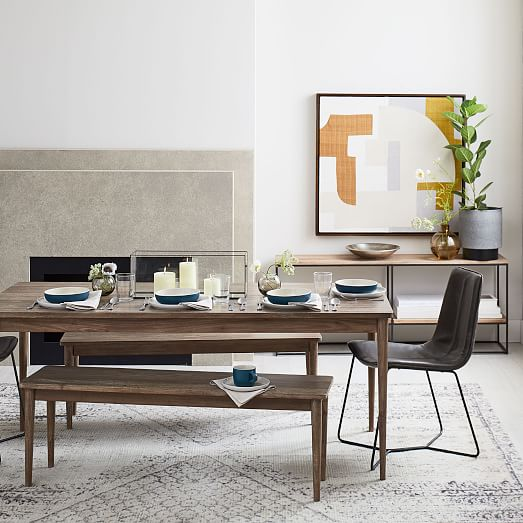 Modern Farmhouse Dining Table Cerused Carob In 2020 Leather