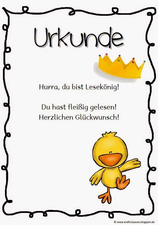 Leseurkunde Ostern | Ideas for school | Pinterest | Deutsch