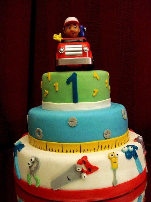 Miraculous Handy Manny Birthday Cake 6 Kindertaarten Taart Bob Birthday Cards Printable Inklcafe Filternl