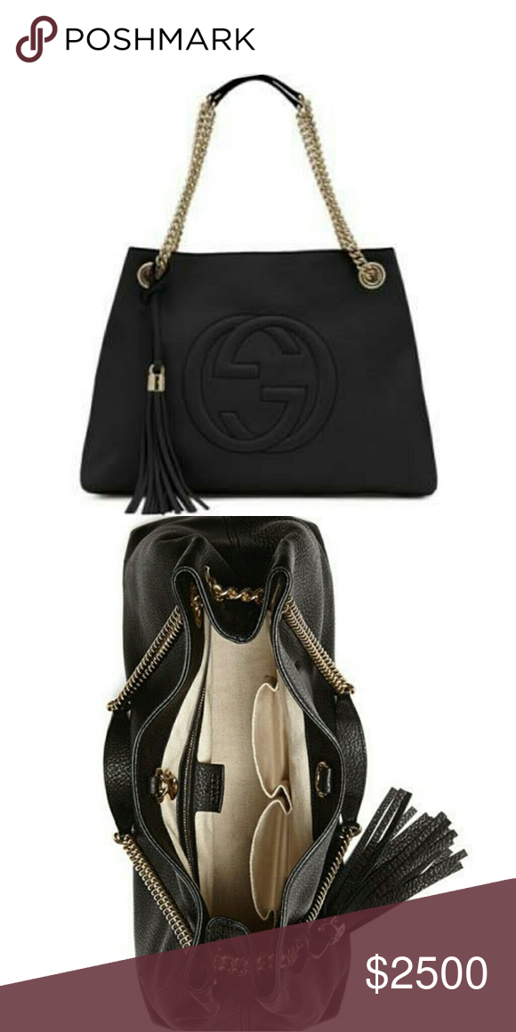 c7aaeff7fd8 Gucci Soho Leather Chain-Strap Tote Bag is new and still has original  packaging.