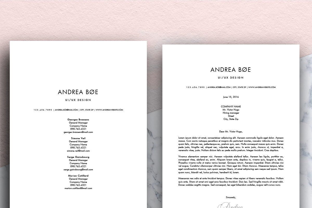 Minimalist Resume (MS Word) Andrea в 2020 г (с