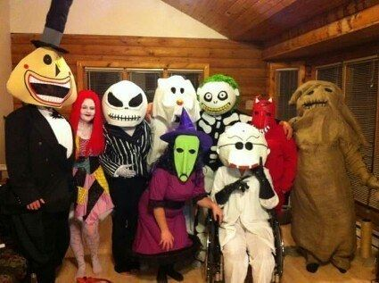 32 Ridiculously Clever Group Halloween Costumes Nightmare before - scary halloween costume ideas 2016