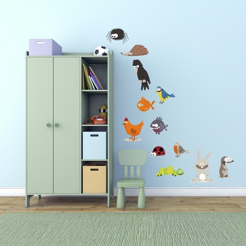 Adesivo da parete a colori 39 39 animaletti set 39 39 vinyl wall - Colori da parete ...