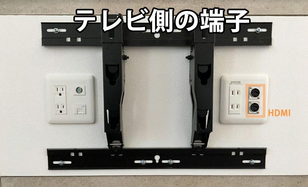 壁掛けTVと壁內配線(テレビ側の端子) | 壁掛けテレビ 配線 ...
