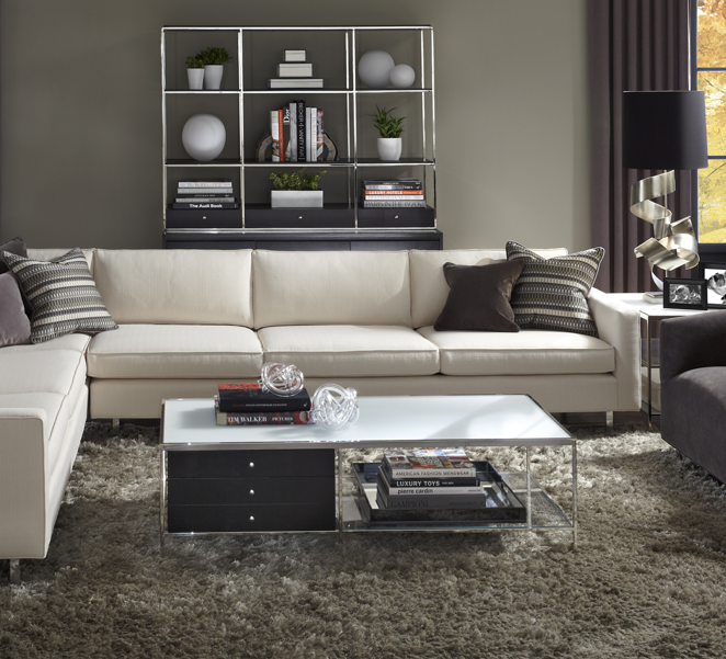 Sectional Sofa | Mitchell Gold + Bob Williams | HUNTER SECTIONAL | Comes In  Steel And