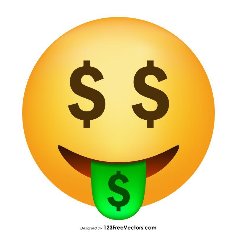 Money Mouth Face Emoji Vector Emoji Free Vector Art Vector Free