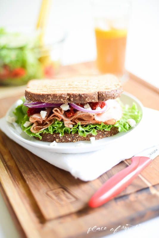 Turkey Sandwich with Goat Cheese Sandwich by Place Of My Taste