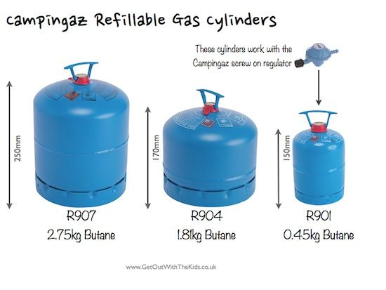 Super Sizes of Campingaz Refillable Gas Cylinders for use in UK and  XI-19