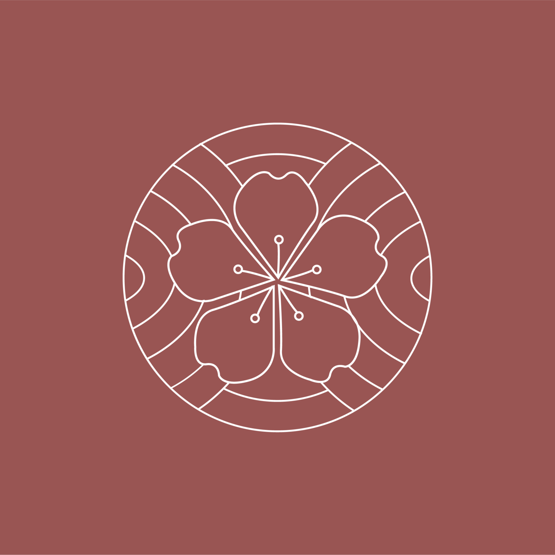 Cherry blossom healing arts | Logo inspiration minimalist