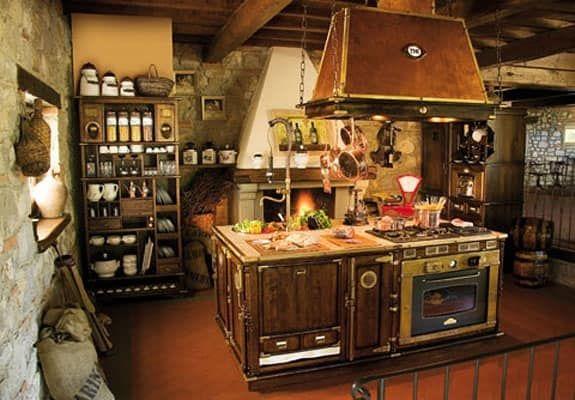 Art. 509, Cucina in legno componibile, vecchio stile, cappa ...