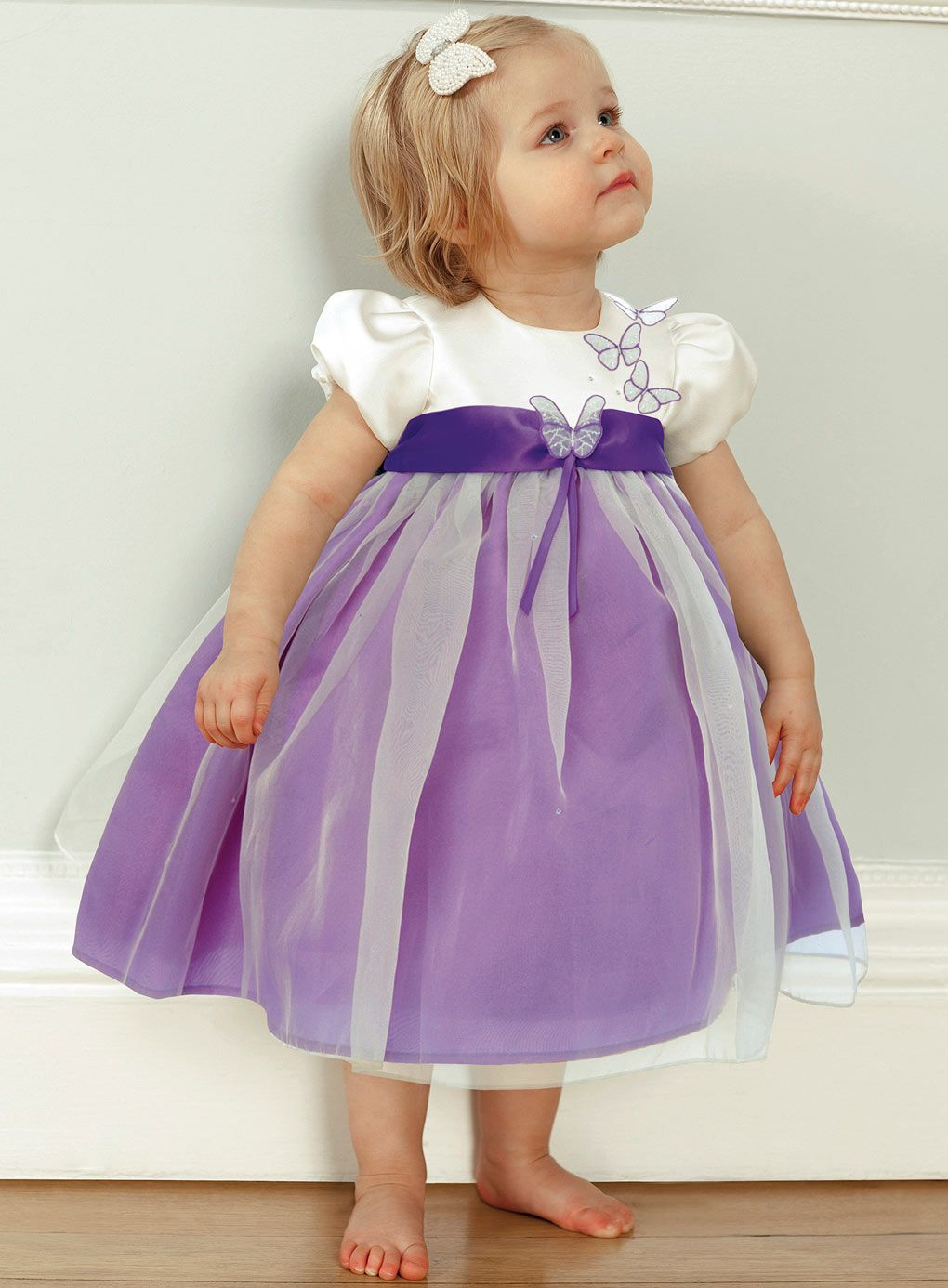 purple flower girl dresses bhs