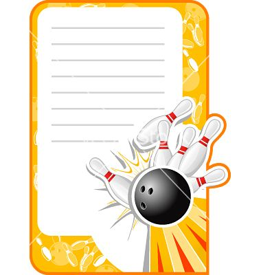 Bowling Invitation Template Stationery Designs Kids Bowling Theme