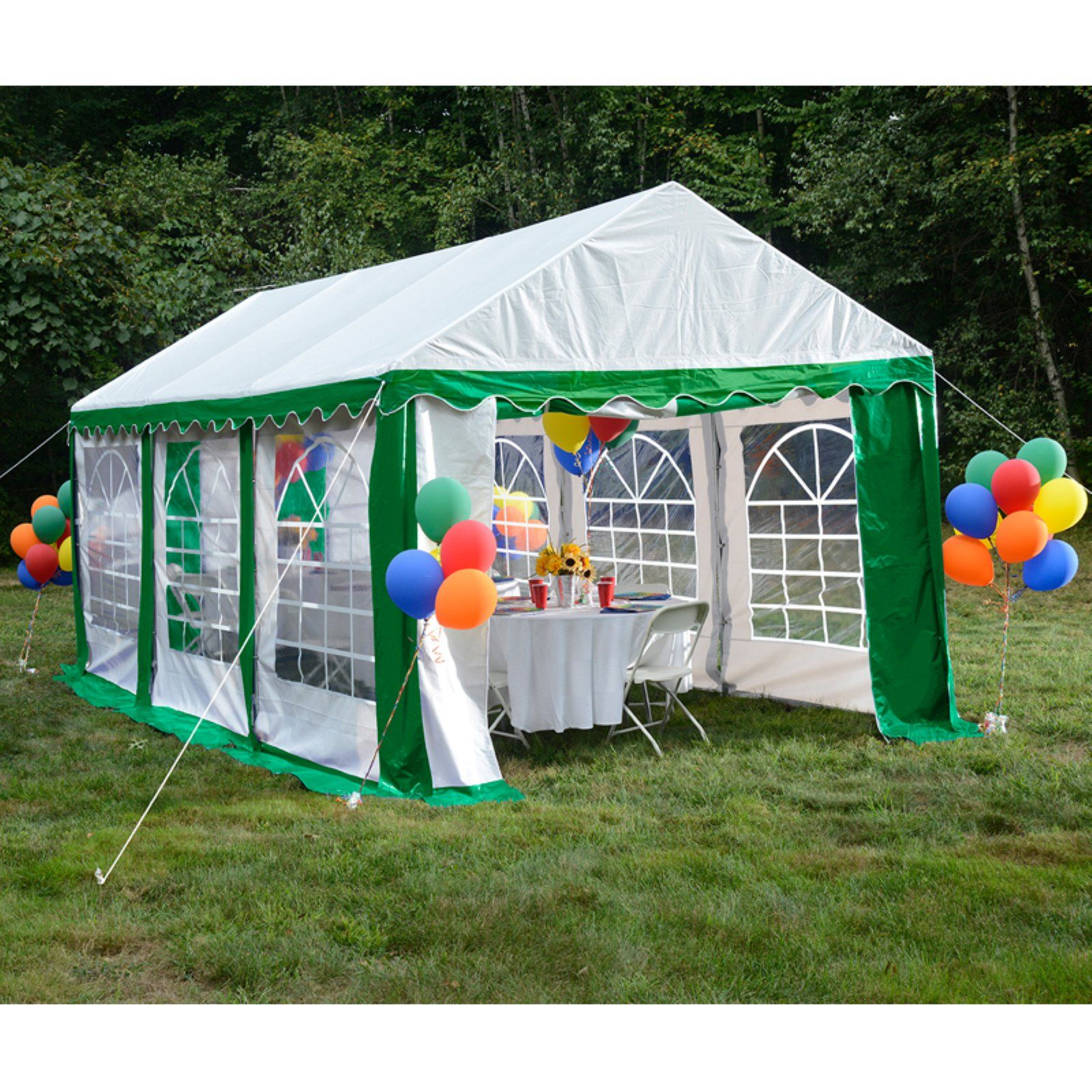 ShelterLogic 10 x 20 ft. Canopy & Enclosure Kit Green