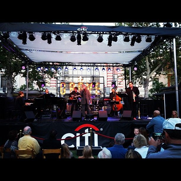 Listening to live jazz from Steve Tyrell at The Grove, June 2012.