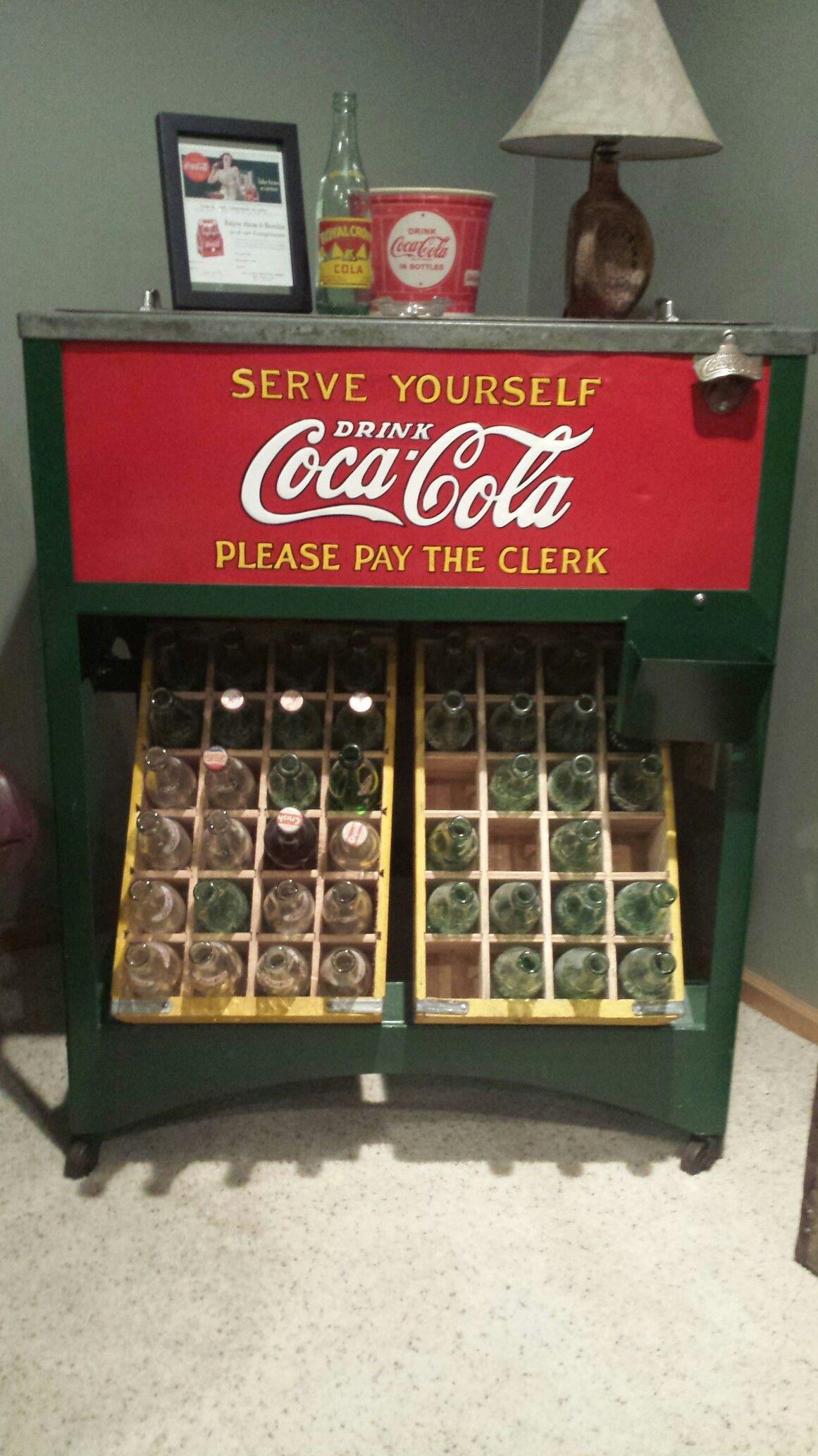 Vintage Glascock Coca Cola Cooler