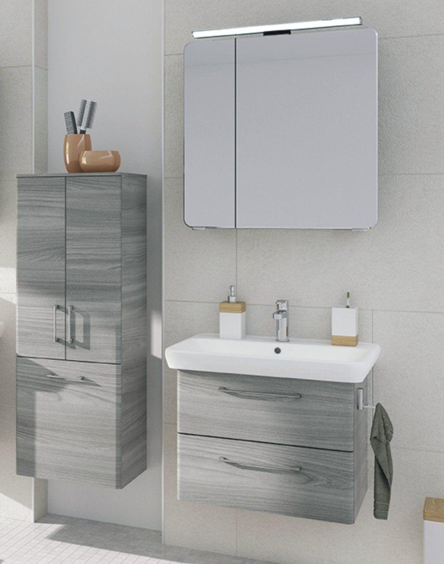 Prag 65 cm , Set D , Spiegelschrank f�r Aufsatzleuchte