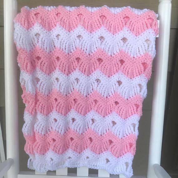 Vintage Ripples Baby Blanket   Baby blanket crochet ...