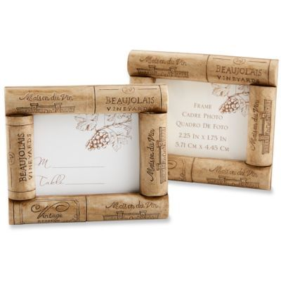 Wine Cork Frame. very small writing space but good for table numbers ...