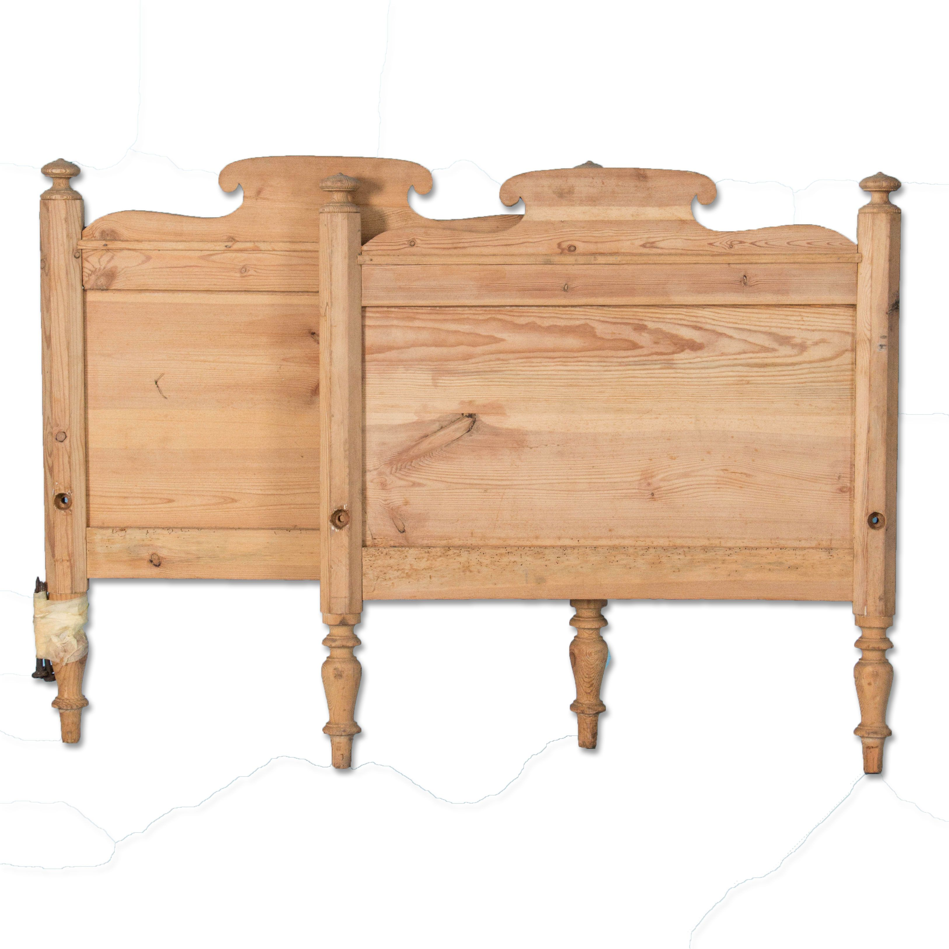 Antique 19th Century Danish Pine Twin Bed Twin Bed Design Your