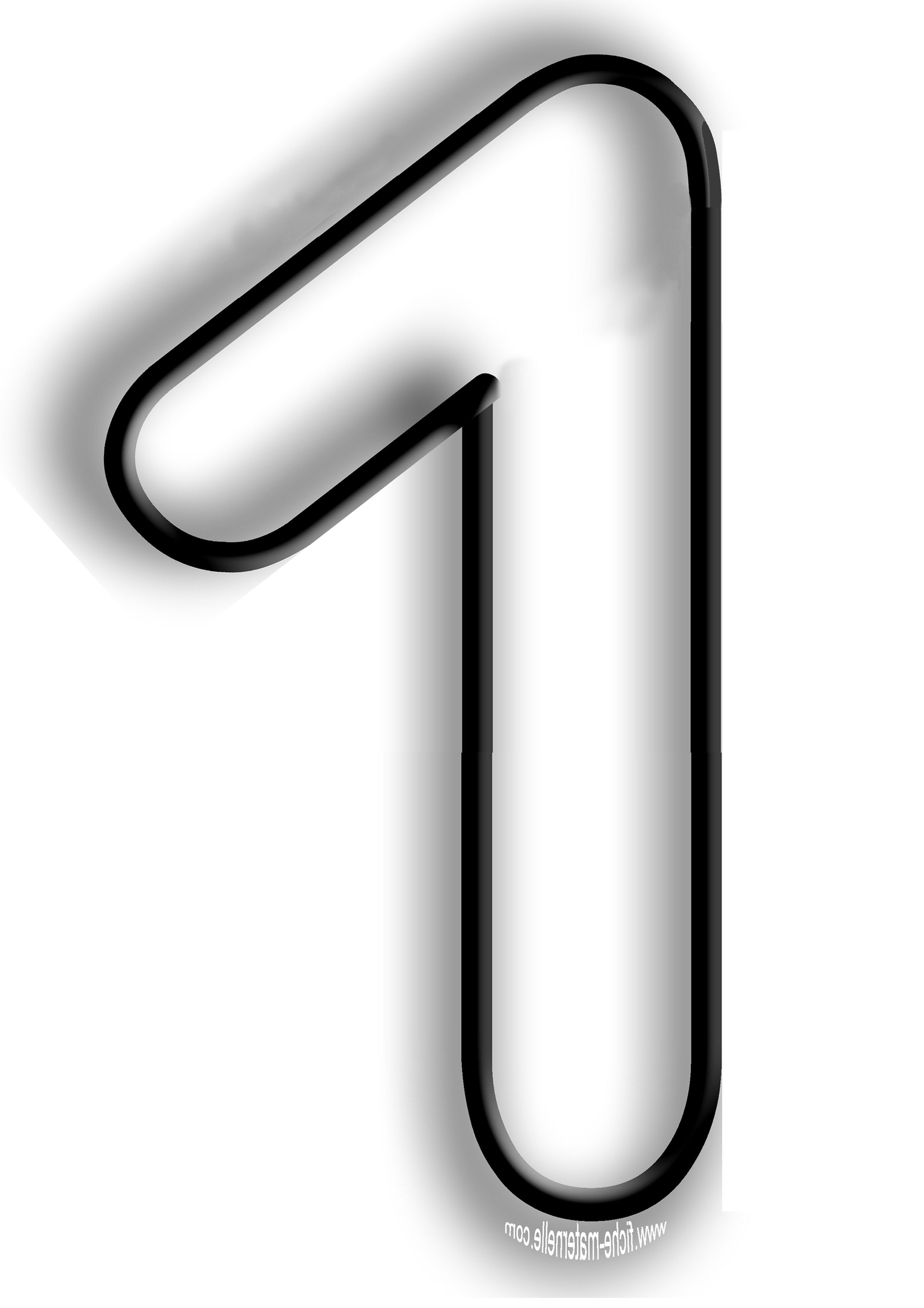 Coloriage des chiffres 01 one pinterest coloriage - Coloriage avec des chiffres ...