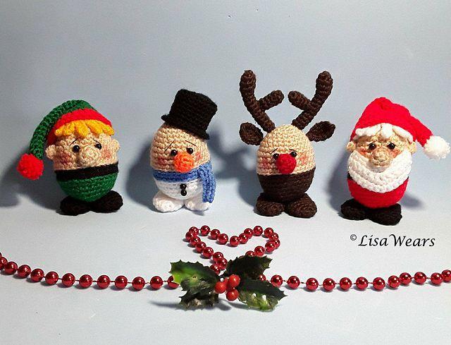 Christmas Egghead cuties ! who can resist?! | Amigurumi | Pinterest ...