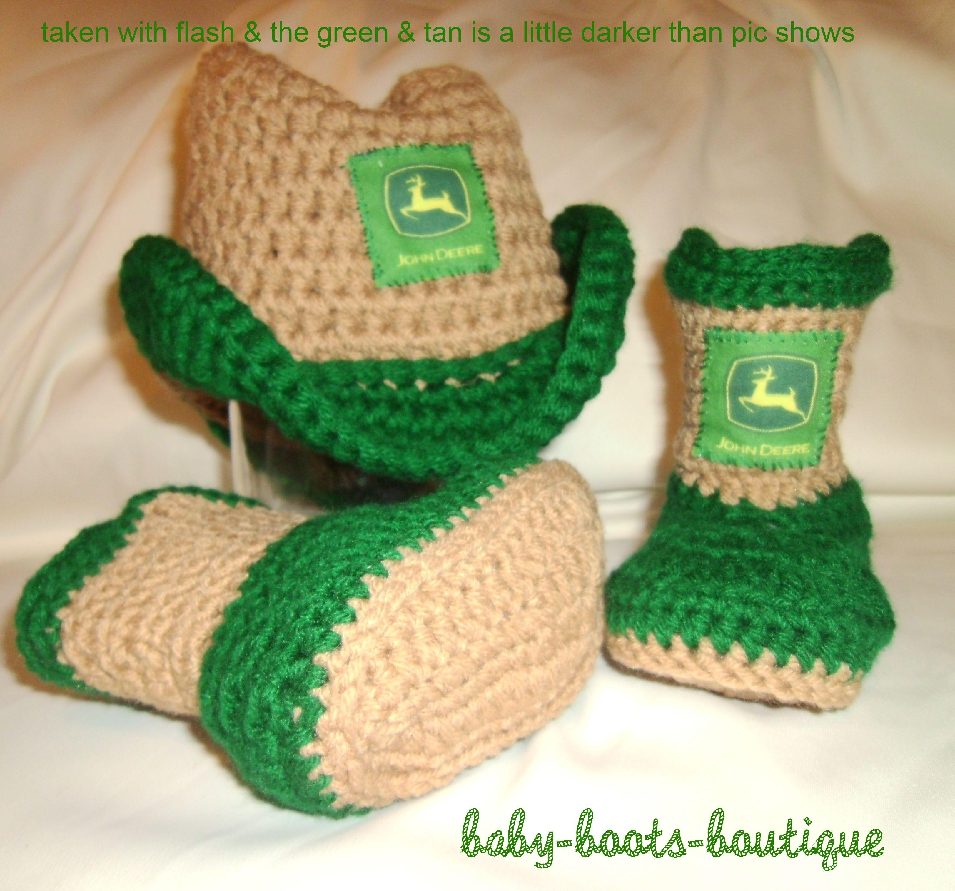 John Deere Boys Baby Cowboy Hat & Booties | S | Pinterest | Bebe y ...