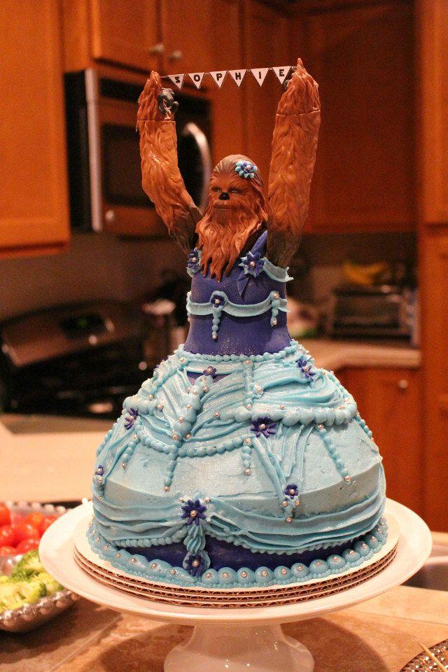 3Year Old Girls Princess Chewbacca Birthday Cake Geekologie