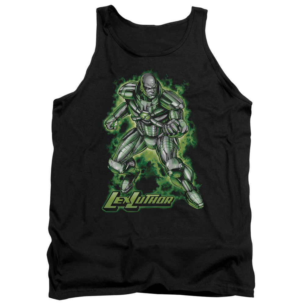 Superman Kryptonite Powered Black 100% Cotton Tank-Top T-Shirt