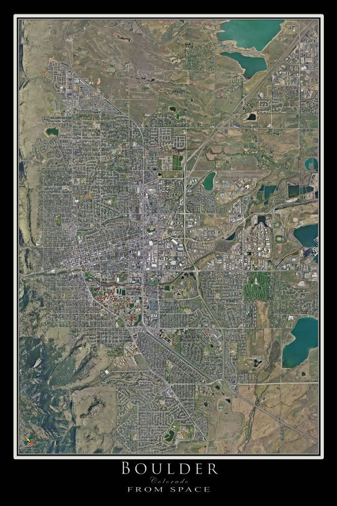 Boulder colorado satellite poster map colorado on my mind terra prints aerial satellite posters depicting views of earth are incredible they give you an amazing new sense of where you live work or play gumiabroncs Image collections