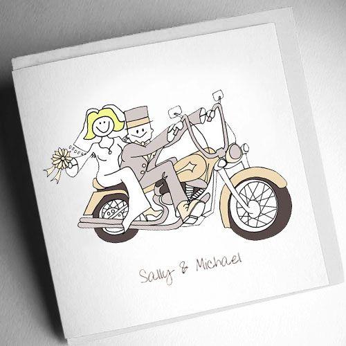 Harley Davidson personalized wedding cards and stationery | wedding ...