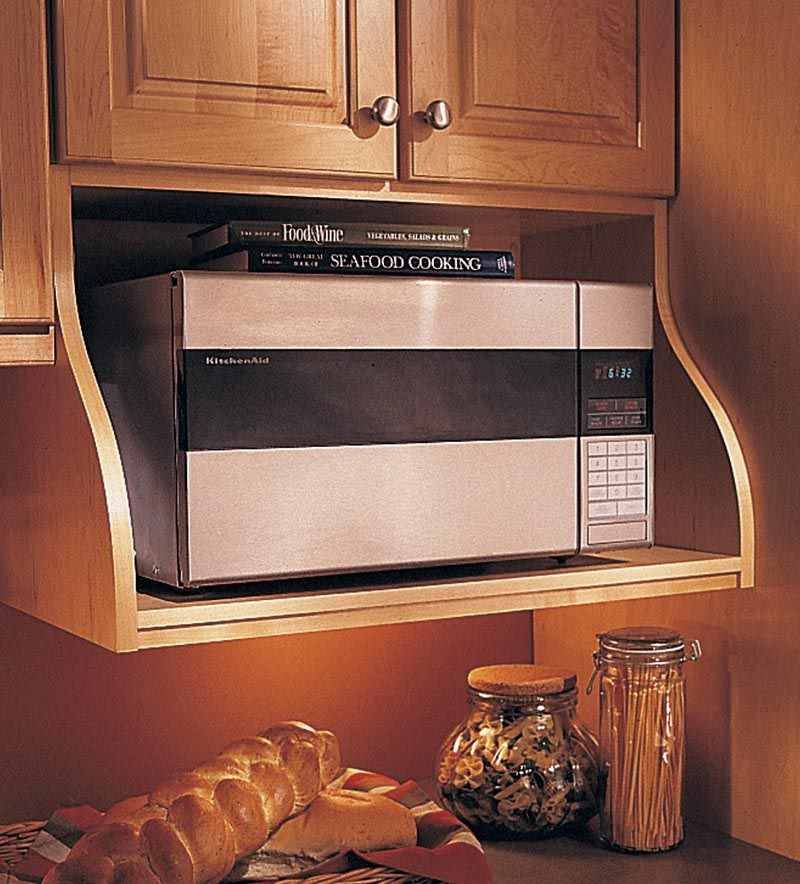 Cabinetry wall microwave shelf kitchen remodel ideas for Kraftmaid microwave shelf