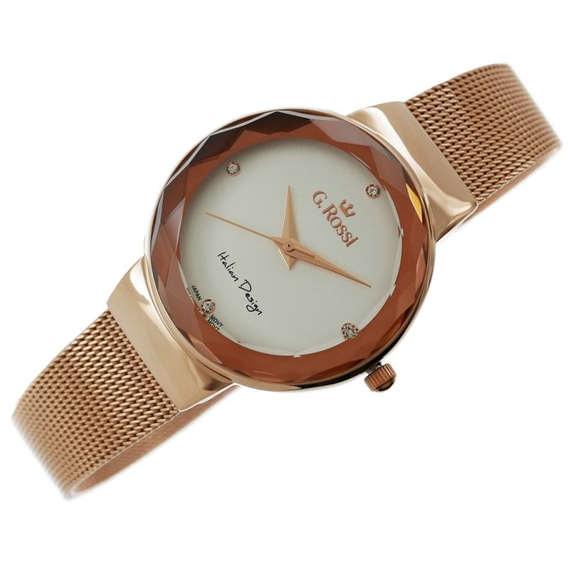 Zegarek Damski Gino Rossi 11184b 3d3 Mesh Strap Watch Accessories Mesh Strap