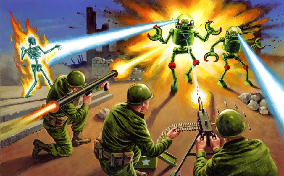 Loving all these new mars attacks cards with images